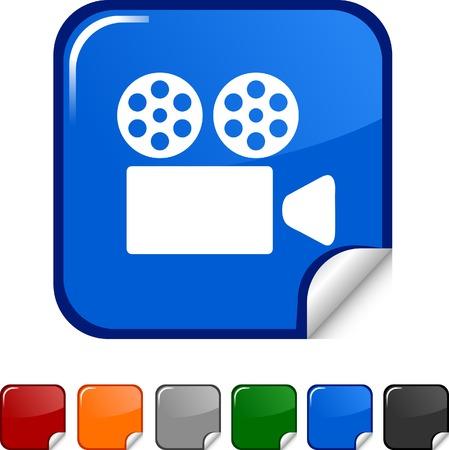 Cinema  sticker icon. Vector illustration.  Vector