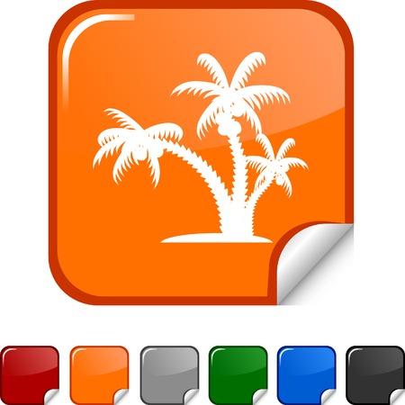 tropical  sticker icon. Vector illustration.  Stock Vector - 5613474