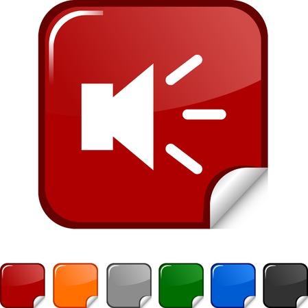 Sound  sticker icon. Vector illustration.  Vector