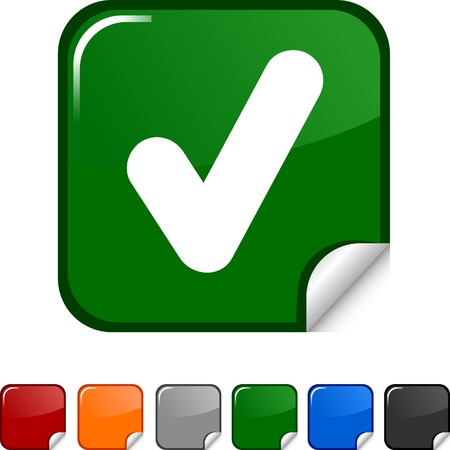 Check sticker icon. Vector illustration. Stock Vector - 5613459