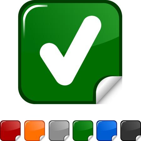 Check sticker icon. Vector illustration.  Vector