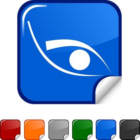 Eye  sticker icon. Vector illustration.  Vector