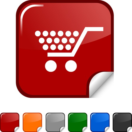 Shopping  sticker icon. Vector illustration.  Vector