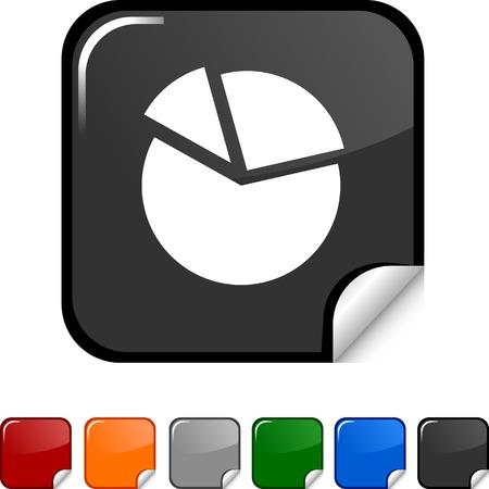 Diagram sticker icon. Vector illustration. Stock Vector - 5613476