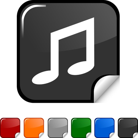 Music sticker icon. Vector illustration.  Stock Vector - 5613475