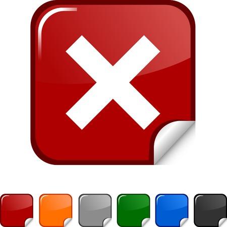 Abort  sticker icon. Vector illustration.