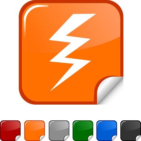 warning  sticker icon. Vector illustration.  Stock Vector - 5613478