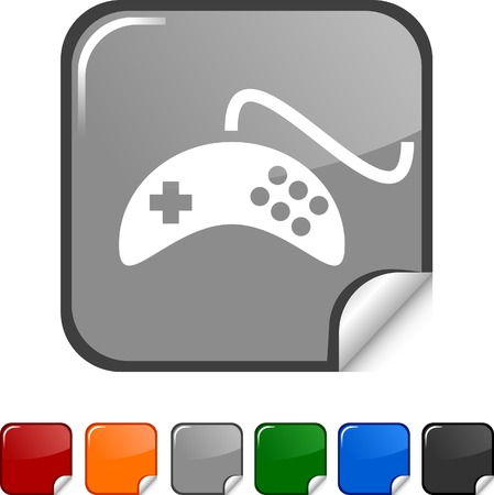 Gamepad sticker icon. Vector illustration.  Stock Vector - 5617898