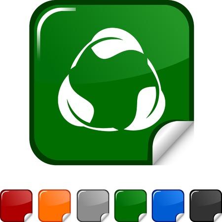 Recycle  sticker icon. Vector illustration.  Vector