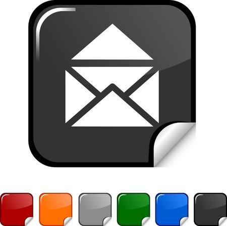 sticker vector: e-mail  sticker icon. Vector illustration.  Illustration