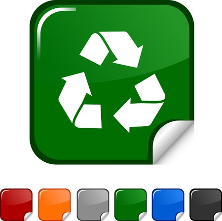 Recycle  sticker icon. Vector illustration.  Vector