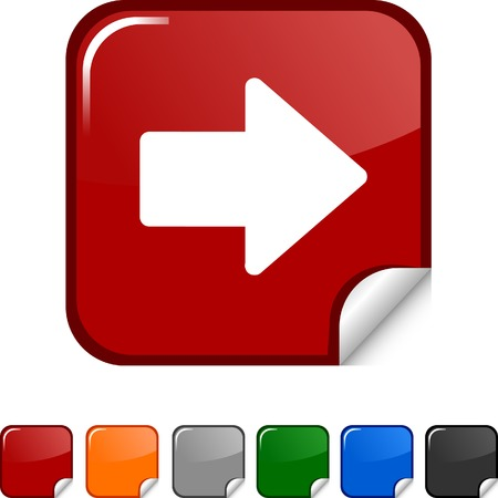 sticker vector:  Arrow  sticker icon. Vector illustration.