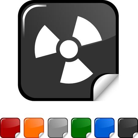 Radiation sticker icon. Vector illustration.  Vector