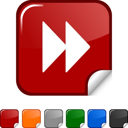 Forward  sticker icon. Vector illustration. Stock Vector - 5623009