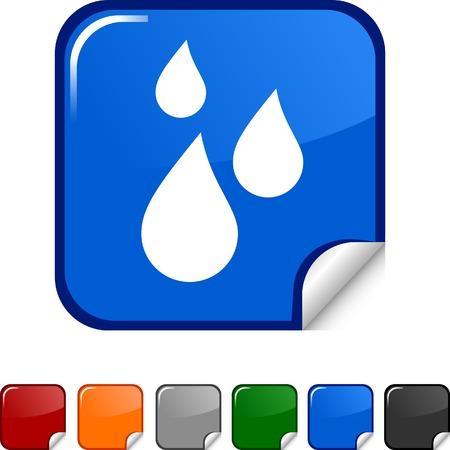 Rain sticker icon. Vector illustration. Stock Vector - 5623010