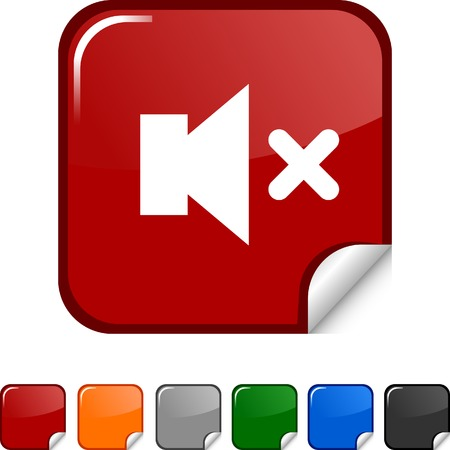Mute  sticker icon. Vector illustration. Stock Vector - 5623008