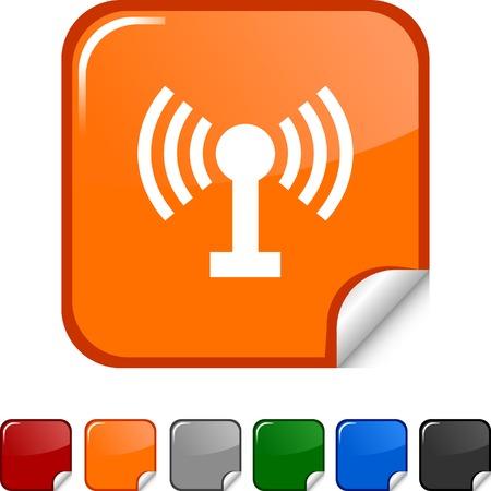 Radio  sticker icon. Vector illustration.  Vector