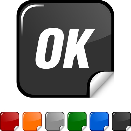 Ok sticker icon. Vector illustration. Stock Vector - 5627947