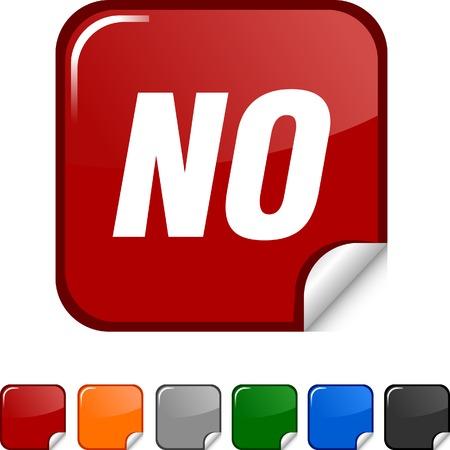 No  sticker icon. Vector illustration.  Vector