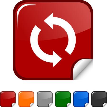Refresh sticker icon. Vector illustration.  Vector