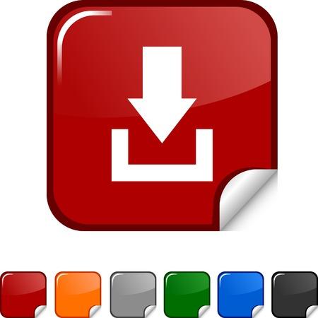 Download  sticker icon. Vector illustration. Stock Vector - 5627963