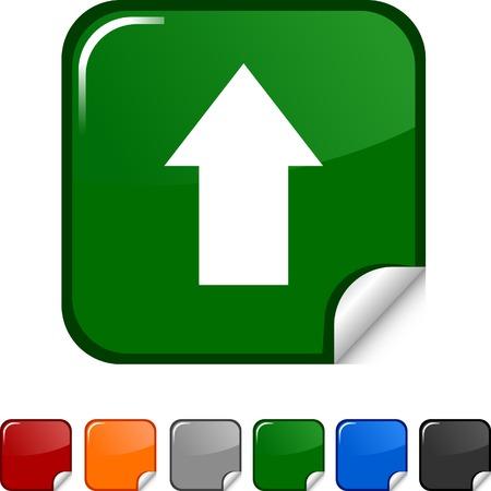 Upload  sticker icon. Vector illustration.  Vector