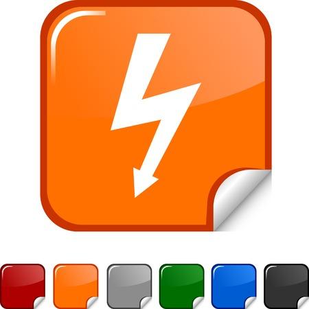 warning  sticker icon. Vector illustration.  Vector