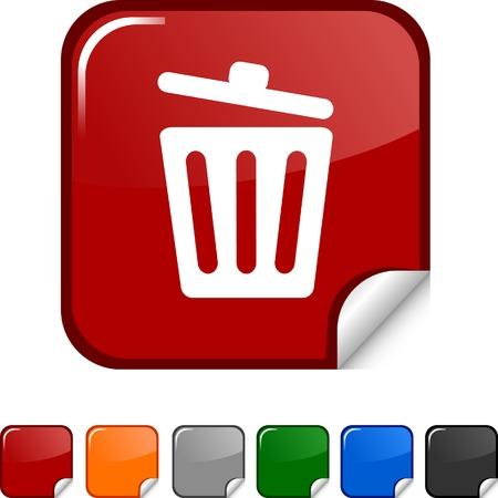 Recycle bin. sticker icon. Vector illustration. Stock Vector - 5627977