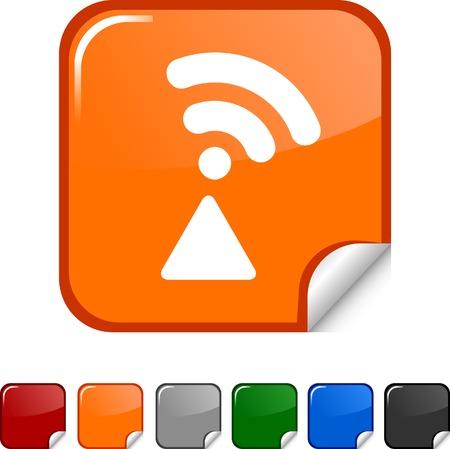 Radio  sticker icon. Vector illustration.  Stock Vector - 5627961