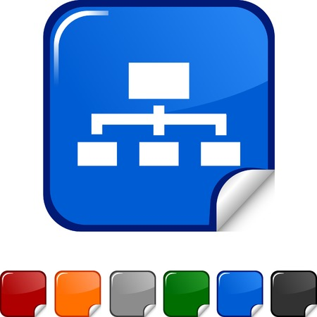 Network  sticker icon. Vector illustration.  Stock Vector - 5627970