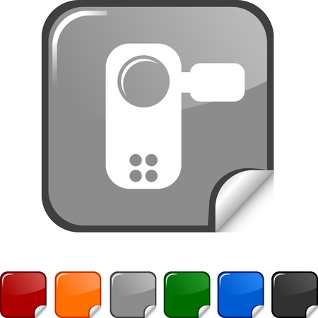 Video sticker icon. Vector illustration. Stock Vector - 5627955