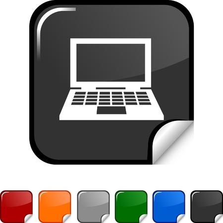 Notebook sticker icon. Vector illustration. Stock Vector - 5627954