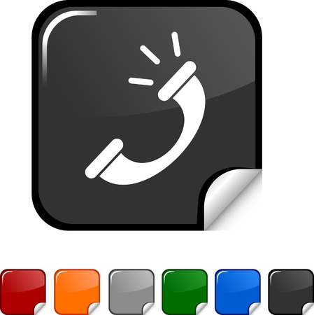 Telephone sticker icon. Vector illustration.  Stock Vector - 5627948