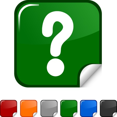 Question  sticker icon. Vector illustration.  Stock Vector - 5627959