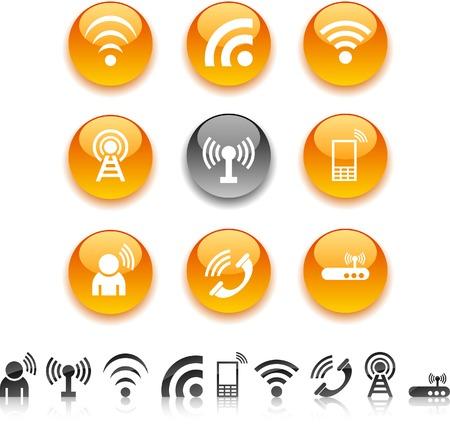 Communication  icon set. Vector illustration. Stock Vector - 5635426