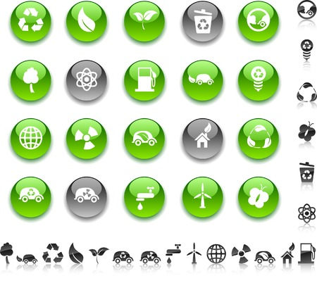 Ecology icon set. Vector illustration.  Vector