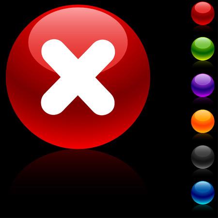 Cross  glossy icon. Vector illustration. Stock Vector - 5635417