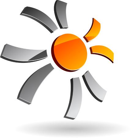 Abstract company symbol. Illustration