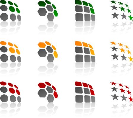 Abstract company symbols.  Vector