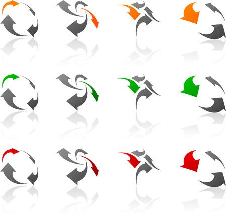 Abstract company symbols.  Stock Vector - 5662325