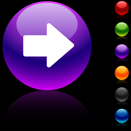 Arrow glossy icon. Vector illustration.  Stock Vector - 5669265