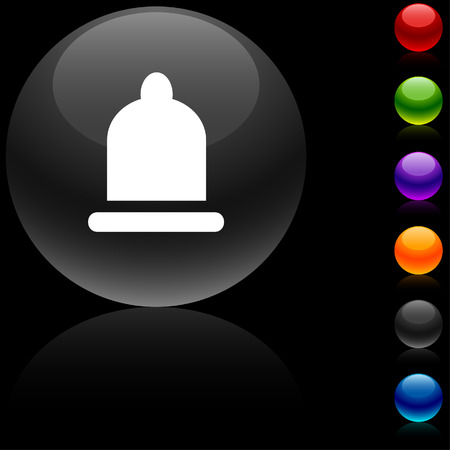 Condom  glossy icon. Vector illustration. Stock Vector - 5680481