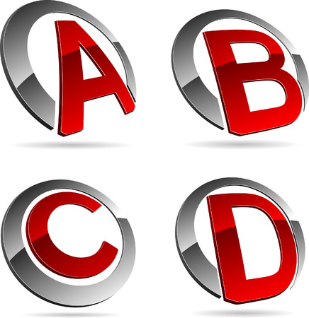 Letter company symbols. Vector illustration. Stock Vector - 5686212