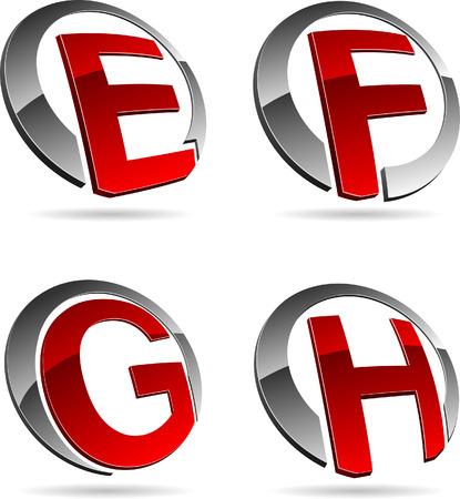 Letter company symbols. Vector illustration. Stock Vector - 5686207