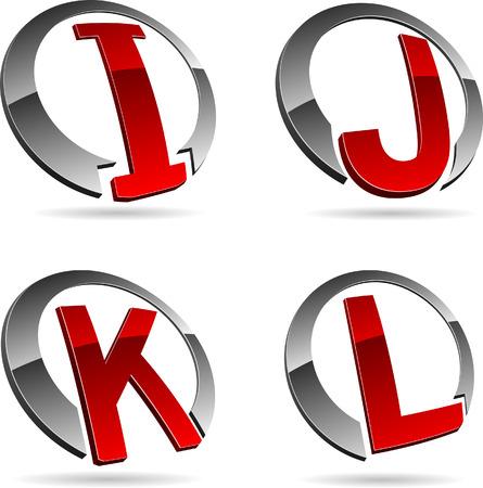 Letter company symbols. Vector illustration. Stock Vector - 5686211