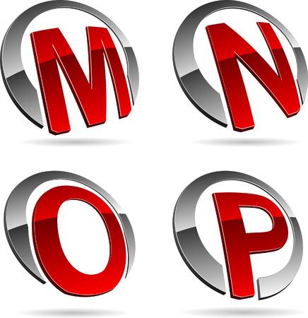 Letter company symbols. Vector illustration. Stock Vector - 5686215