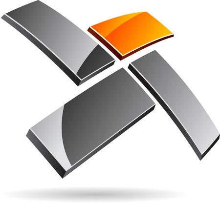 merken: Abstract bedrijf symbool. Vector illustratie.  Stock Illustratie