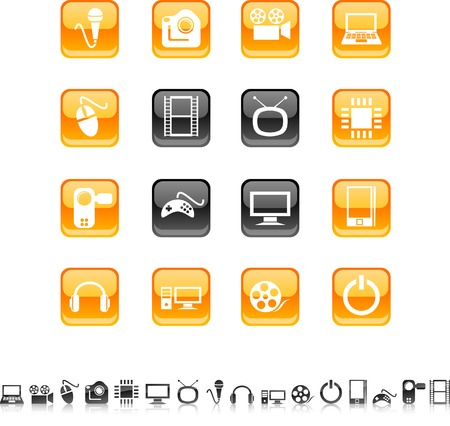Multimedia  icon set. Vector illustration.  Stock Vector - 5686236