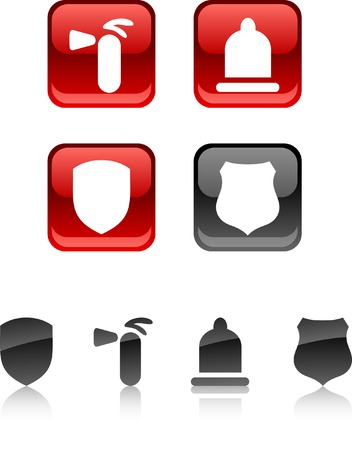 Safety  icon set. Vector illustration.  Stock Vector - 5686216