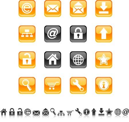 arroba: web icon set. Vector illustration.